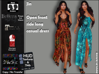 Image of :: D!vine Style :: Jin - Open front side long casual dress