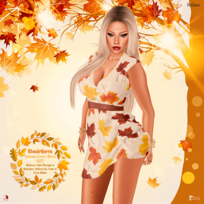 BlondeQueen - Autumn Leaves Dress - GIFT