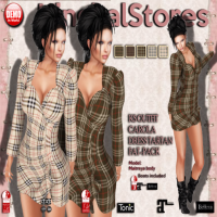 Image of Kingbal Stores - Outfit Carola Dress Tartan Fatpack
