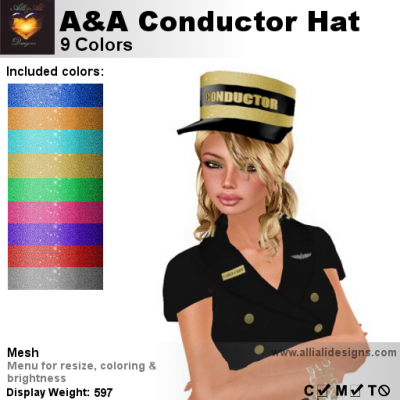 Alli & Ali - Conductor Hat - 9 Colors