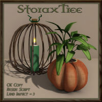 Image of StoraxTree - Pumpkin Planter & Candle