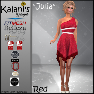 Julia FitMesh Dress