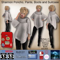 Image of Moonstar - Shanon Poncho, Pants, Boots, Suitcase