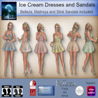 Image of Moonstar - Ice Cream Dresses and Sandals