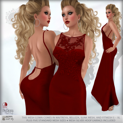 *Lurve* Simply Exposed Formal - Red
