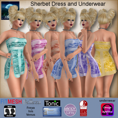 Image of Moonstar - Sherbet Dress and Underwear