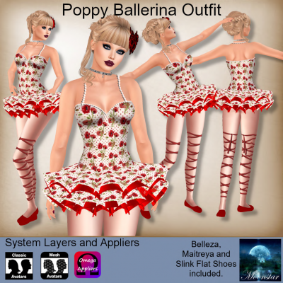 Poppy Ballerina Outfit by Moonstar