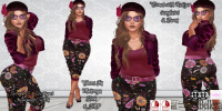 Image of Sweet E's - Mauve Floral Jumper outfit with Shoes