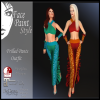 Image of Face Paint - Frilled Pants Outfit