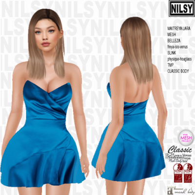 NILSY - Strapless Flared Dress