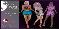 Image of Face Paint - Syle Fiore Skirt Set